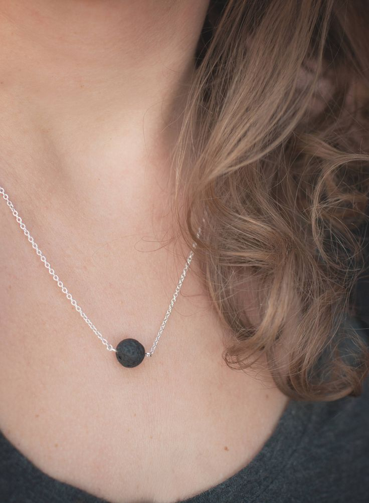 Diffuser Necklace • Lava Stone Necklace • Aromatherapy Jewelry • Minimalist Pendent by HopeHarmonyandJoy on Etsy https://www.etsy.com/ca/listing/574023793/diffuser-necklace-lava-stone-necklace