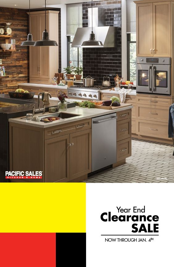 The Pacific Sales Year End Clearance Sale is going on now! Save up to 50% on Clearance Items and up to 30% on Major Appliance and Kitchen & Bath Fixture Top Deals! Plus, save thousands of dollars with manufacturers' incentives/rebates, but hurry these rebates end December 31! The expert staff will help you with the details. Visit PacificSales.com/sale to see the deals.