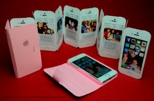 Easy to make IPhone ribbon flip panel card and template