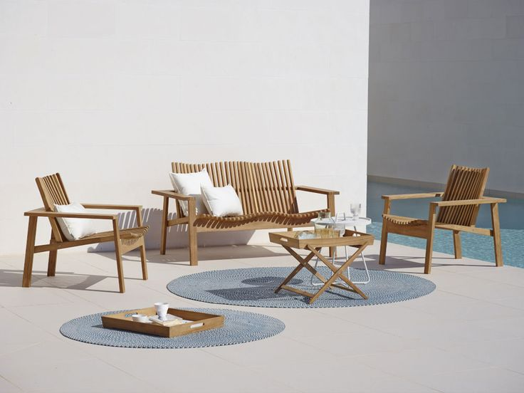 Natural materials, simplicity and comfort are the main features of the sofa Amaze. Manufactured in untreated, certified teak wood, which allow one to choose how to preserve the teak. | #designbest #salonedelmobile #salonedelmobile2015 #milanodesignweek #mdw2015 #isaloni #design #interiordesign #outdoor @caneline