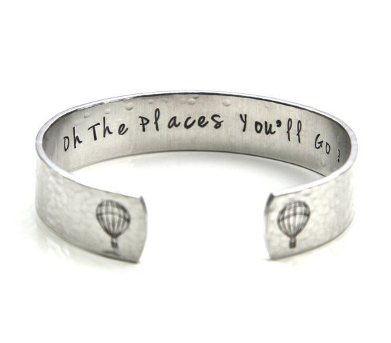 Oh The Places You'll Go, Wanderlust, Adventure Jewelry, Hot Air Balloon Jewelry, Balloon Jewelry, Balloon Bracelet, Travel Jewelry on Etsy, $29.00