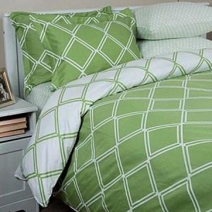Modern Lime Green U0026 White Duvet Cover Set