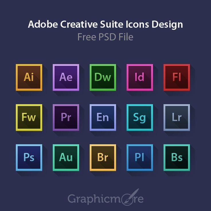 Adobe Creative Suite Icons Design Free Psd File Adobe Adobeiconsdesign Ae Shares Niche Love Creative Suite Adobe Creative Suite Adobe Creative