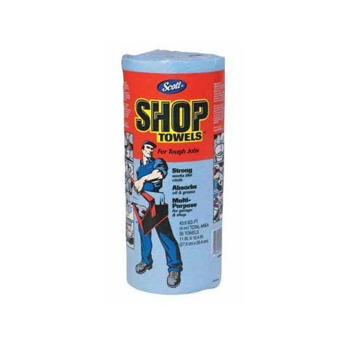 SCOTT SHOP TOWELS - 75146 (Pack of 6) by Scott. $14.70. Scott Shop Towels 11 X 10.4 Sheets 55 Sheets Per Roll Fits Standard Towel Holder Works Like A Cloth Absorbes Oil And Grease For Use In Garage Or Shop Blue Single Roll Discovery Con, Nbr, Sup