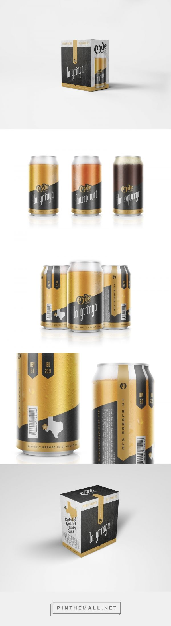 Ode Brewing (Concept) - Packaging of the World - Creative Package Design Gallery - http://www.packagingoftheworld.com/2017/06/ode-brewing-concept.html - created via https://pinthemall.net