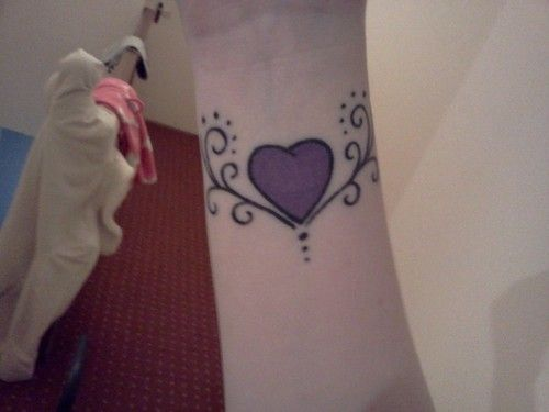 Heart Wrist Tattoo:
