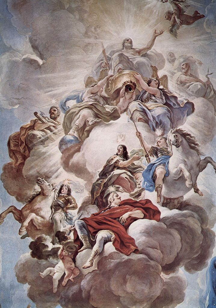 The Athenaeum - Triumph of the Medici in the Clouds of Mount Olympus (Luca Giordano - )