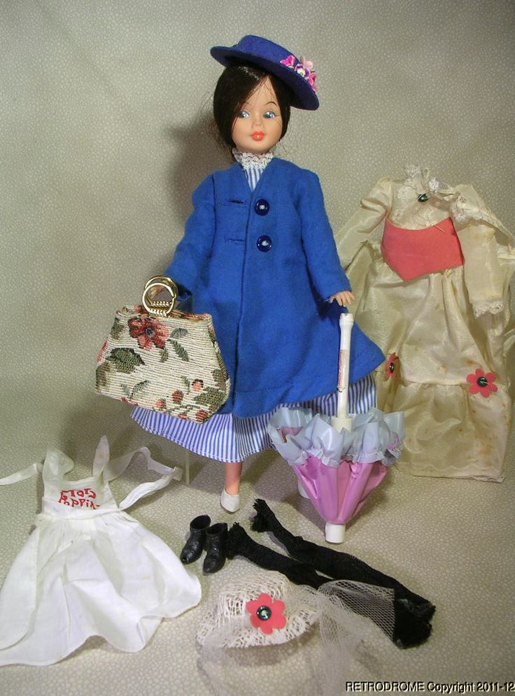 Toys For Mary Poppins : Vintage horsman mary poppins doll w outfits and access