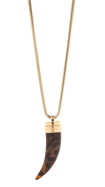 michael kors tortoise horn pendant this looks fabulous with navy blue and white...