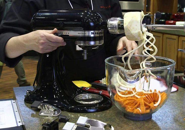 Pinterest • The world's catalog of ideas -> Kitchenaid Spiralizer