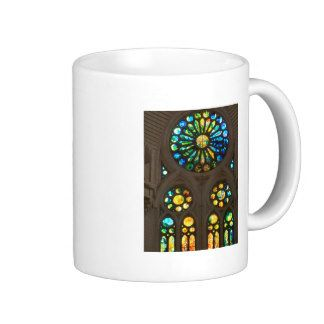 Church Cathedral Christ Wall Stained Glass Deco 99 Classic White Coffee Mug
