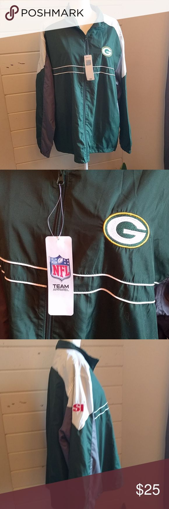 Green Bay Packers windbreaker jacket NWT Sports Illustrated NFL apparel. NFL Jackets & Coats Windbreakers