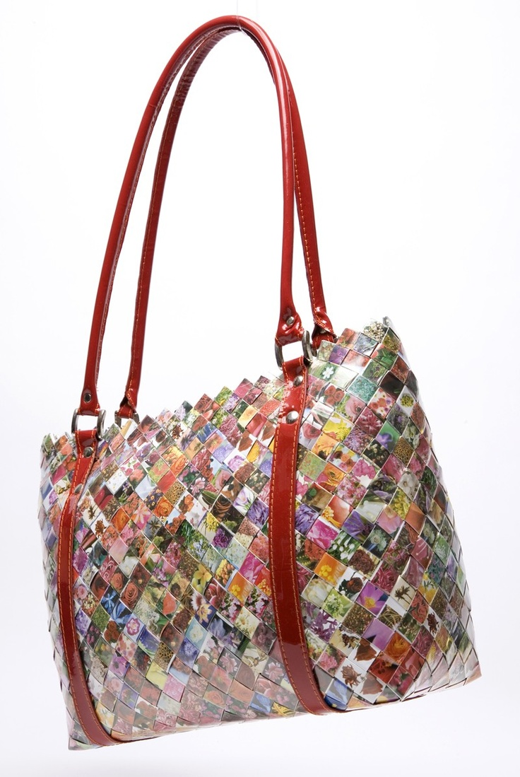 nahui ollin- candy wrapper bags...I just bought one of these and Luv it!  Take a look at the site....each one is different.