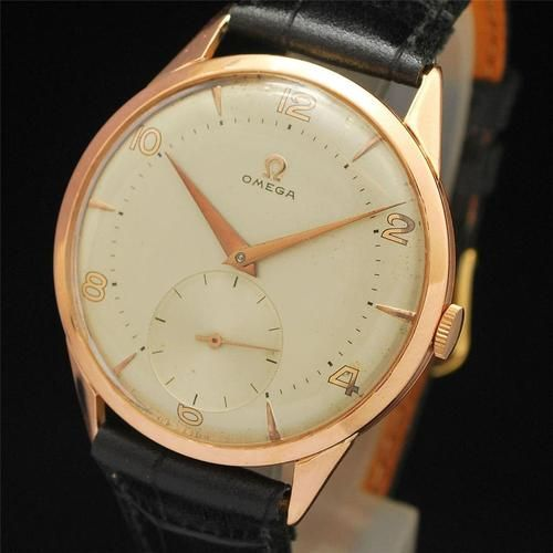 17 best images about vintage watches rose gold late 1940 s vintage omega 18k solid rose gold manual wind cal 265 mens watch
