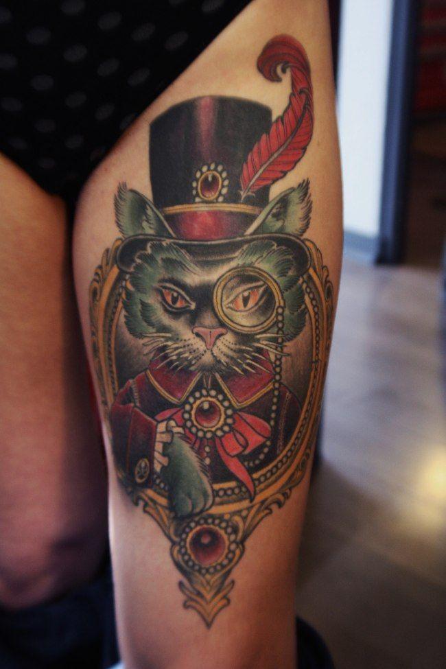 17 meilleures id es propos de tatouages sur la cuisse - Tatouage autour de la cuisse ...