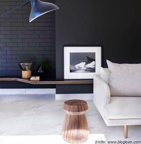 Podłoga z marmuru w salonie
