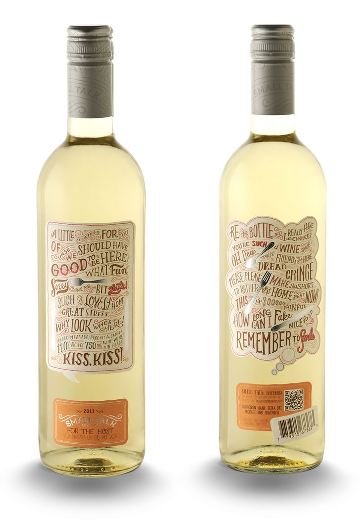 SmallTalk WhiteWine More wine label awesomeness from Mary Kate McDevitt.