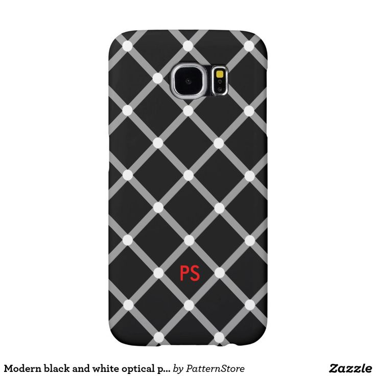 Modern black and white optical pattern illusion samsung galaxy s6 cases