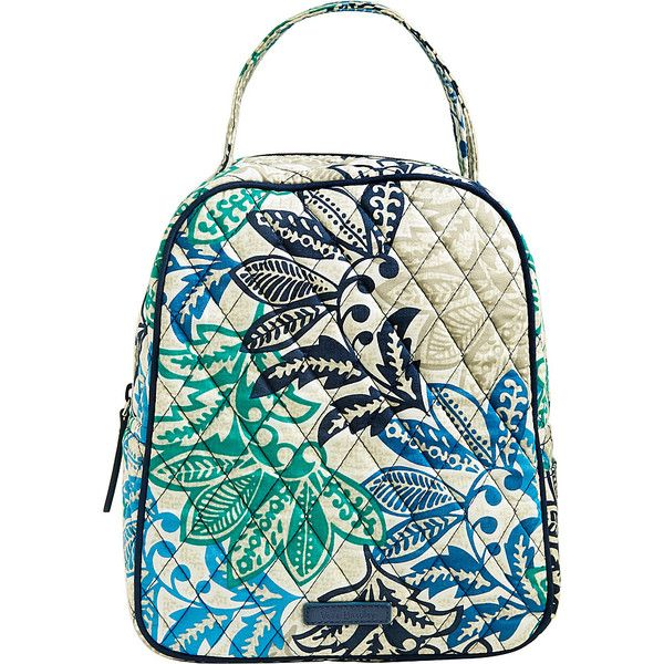 Vera Bradley Lunch Bunch - Santiago - Lunch Bags ($34) ❤ liked on Polyvore featuring home, kitchen & dining, food storage containers, blue, vera bradley, vera bradley lunch bag, lunch bag, lunch thermos and lunch sack