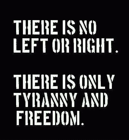 There is no Left or Right, there is only Tyranny and Freedom. Join us: http://IamTheTeaParty.net  #teaparty #tcot