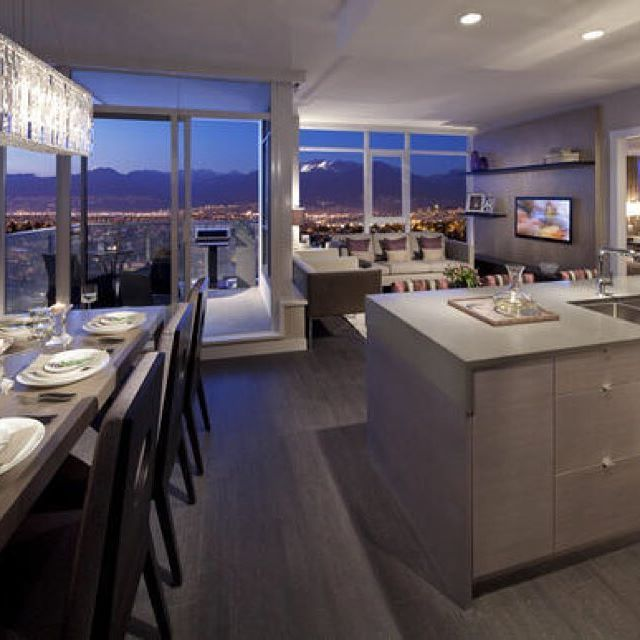 Beautiful open floor condo setup! The view isn't bad either!  #HAinspiration…