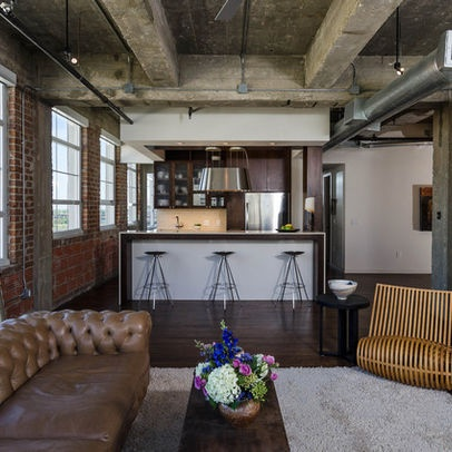 Loft mill apartment design ideas pictures remodel and decor exposed industrial ceilings - Ideas para loft ...