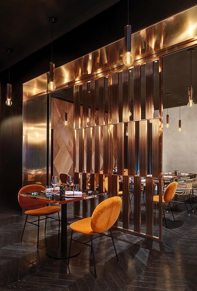 Manko Paris France Cafe Interior Design Copper Interior