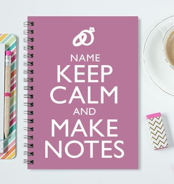 Keep Calm Wedding Notebook £ 4.99