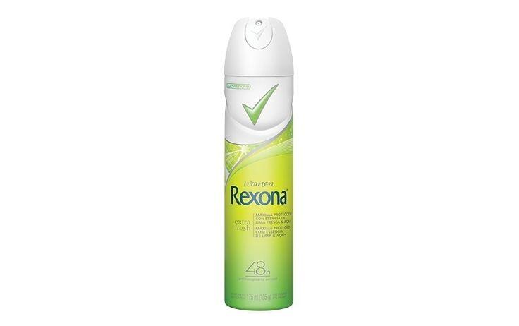 Extra Fresh, Rexona. Entre os ingredientes desse desodorante, figura o açaí, que garante um aroma refrescante ao longo do dia. Preço sugerido: R$ 9,40 (aerossol). SAC: 0800-7077512 | Preços pesquisados em junho de 2013 e sujeitos a alteração