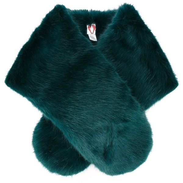 Shrimps faux fur stole (€265) ❤ liked on Polyvore featuring accessories, scarves, fur, jackets, outerwear, green, fake fur shawl, green shawl, fake fur scarves and green scarves