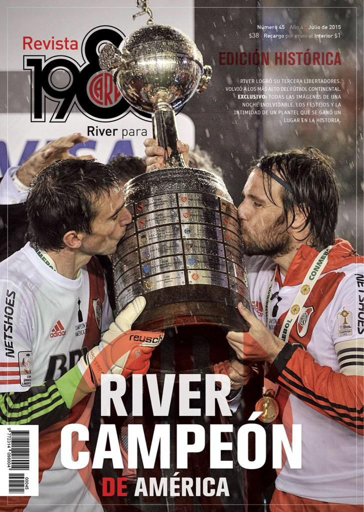 #EdiciónHistorica. Ya Salió el #45 de @Revista1986. Gritá #RiverCampeonDeAmerica Pedila YA http://goo.gl/liCNHb
