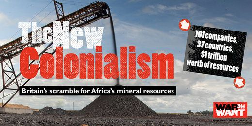Colin Todhunter Global Research Thu, 14 Jul 2016 17:23 UTC  Africa is facing a new and devastating colonial invasion driven by a determination to plunder the natural resources of Africa, especiall… https://winstonclose.me/2016/07/15/reviewing-mark-curtis-new-report-the-new-colonialism-britains-scramble-for-africa-colin-todhunter/