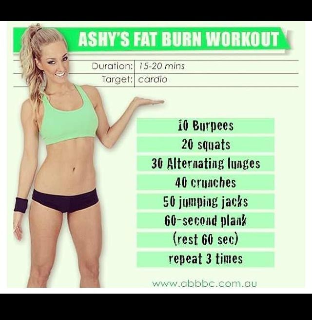 Fat burn workout my goal for today