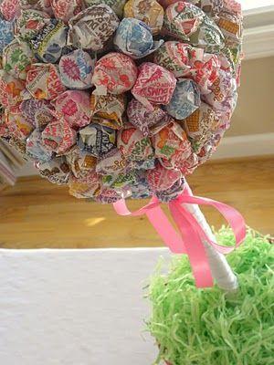 Dum dum topiary :D : Kids Parties, Dums Topiaries, For Kids, Birthday Parties, Candy Bar, Parties Ideas, Sucker Trees, Parties Blog, Baby Shower
