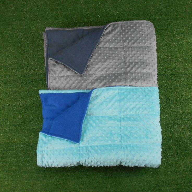 Cuddly and heavy Australian-made weighted blankets with minky dot fabric on one side and polar fleece on the other. All sizes and all weights custom made to order.
