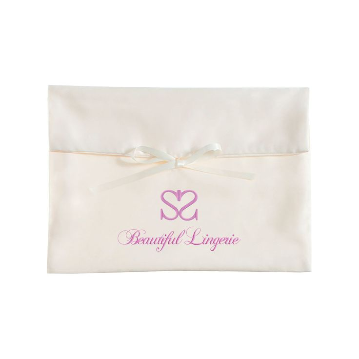 Buy personalized embroidered satin lingerie bags for wholesale by Thai satin bag manufacturer at low factory price with worldwide export