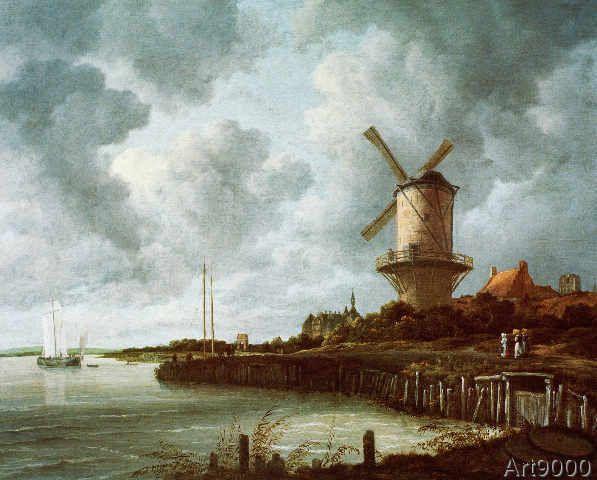 Jacob Isaaksz. or Isaacksz. van Ruisdael - Die Mühle von Wijk bij Duurstede