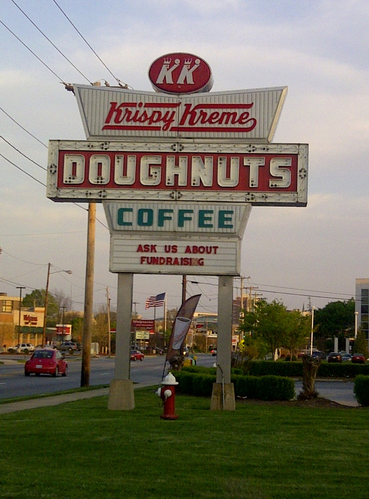 Krispy Kreme sign in High Point, NC. | Vintage Signs ...