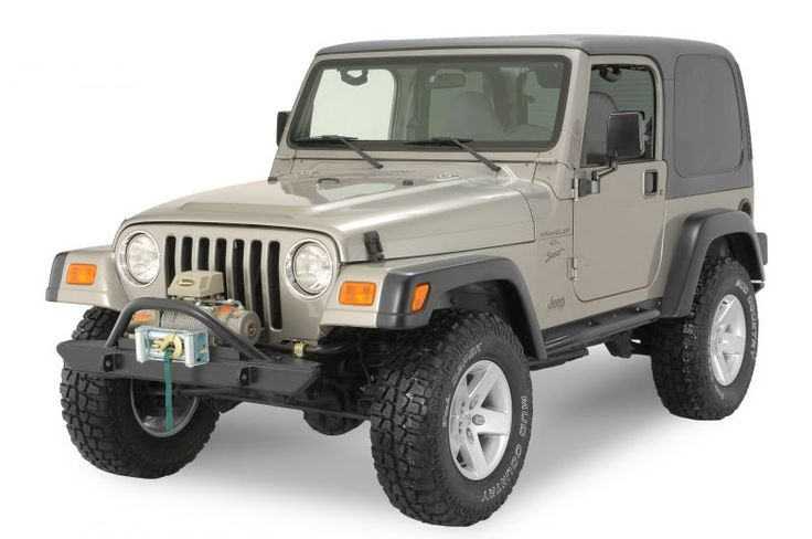 Rock Hard 4x4 Parts Front Bumper with Angled Hoop in Black for 76-06 Jeep® CJ, Wrangler YJ, TJ & Unlimited - $344.99
