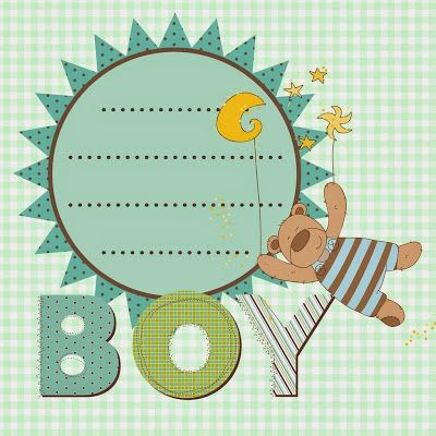 Baby Shower, Baby Boy, Clip Art, Journaling, Train, Stickers, Cartoon,  Scrap, Tags