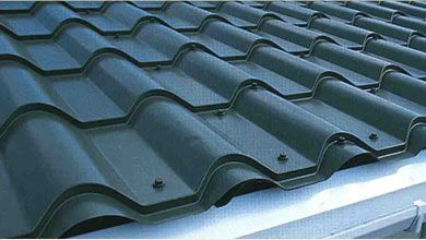 Metal and zinc roof tiles typically come in sheets and are able to cover a large area.