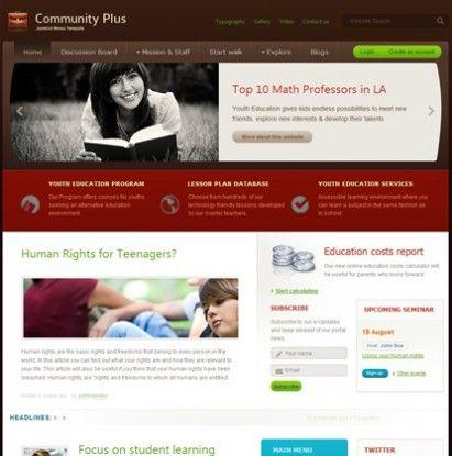 JA Community Plus - Versatile Joomla Template. Esta plantilla es la que hemos utilizado para el proyecto www.compromesosamblalectura.org