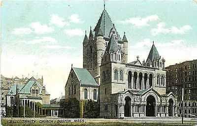 Boston Massachusetts MA 1905 Trinity Church Collectible Antique Vintage Postcard