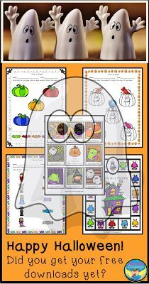 No Tricks- Your Halloween Help is Here! Download free, fun games and basic skills worksheets to keep little hands busy this Halloween ! Treat yourself!