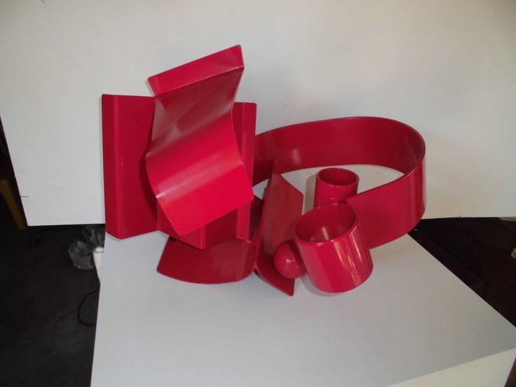 """Transformations"" Steel Powdercoated 40x55x40cm. Maurice Schlesinger, sculptor"