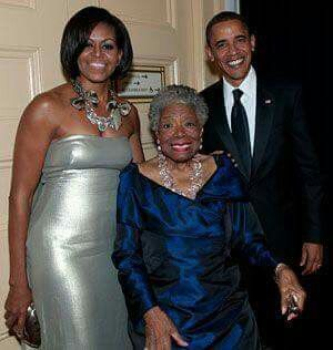 Born in Hawaii, USA, Christians Mr President & First Lady Obama, with Special White House Guest, Poet Maya Angelou.