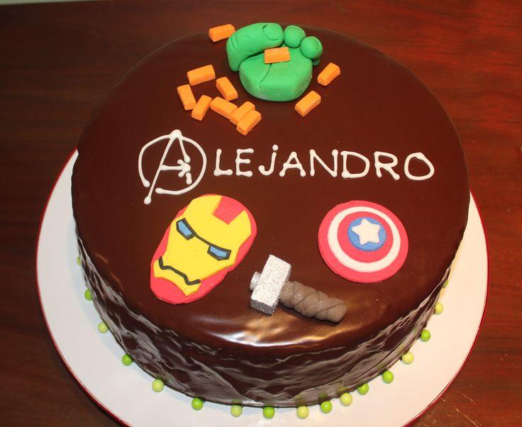 avengers chocolate cake