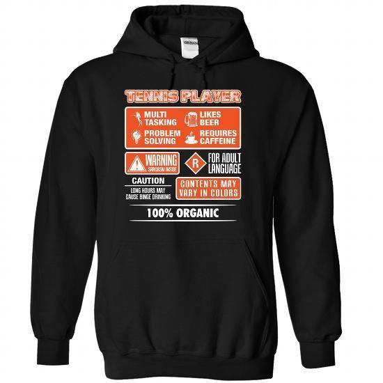 100 percent organic TENNIS PLAYER T Shirts, Hoodies. Check price ==► https://www.sunfrog.com/LifeStyle/100-percent-organic-TENNIS-PLAYER--1115-2145-Black-Hoodie.html?41382 $39.99