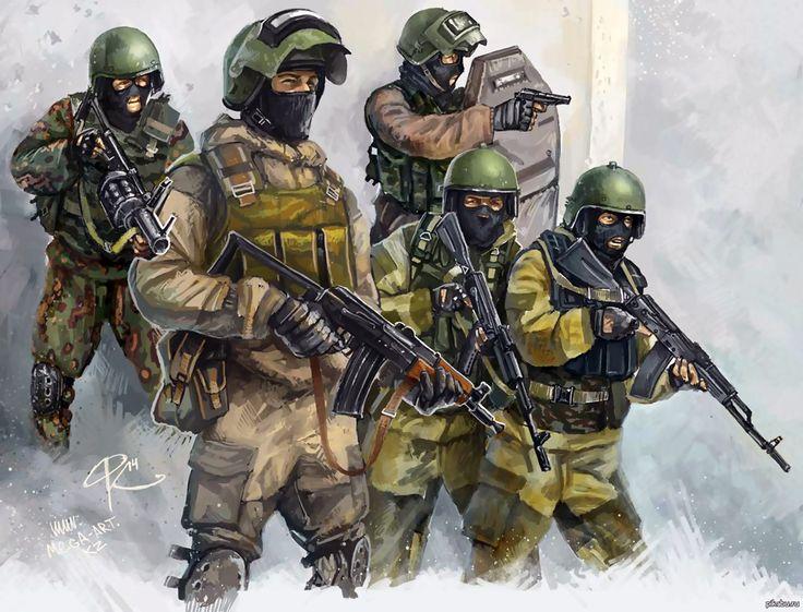 Russian Spetsnaz soldiers