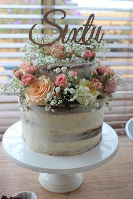 Mums 60th Birthday Cake A Lemon Cream Cheese Naked Cake